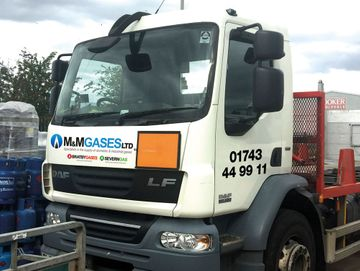 m&m gases ltd truck
